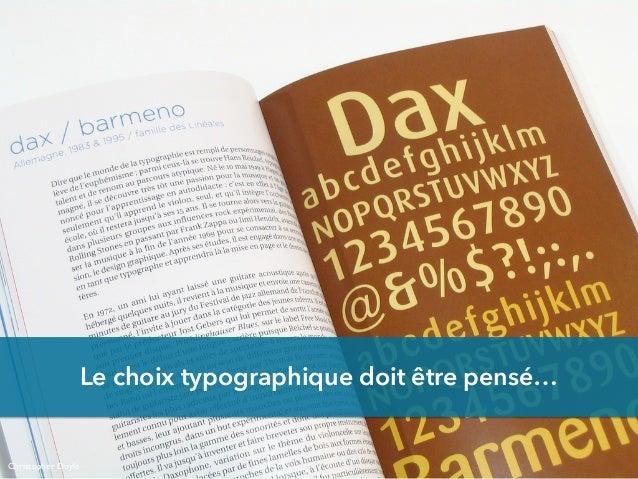 Le choix typographique doit être pensé… Christopher Doyle