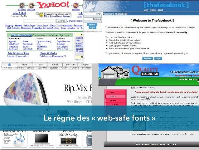 Le règne des «web-safe fonts»