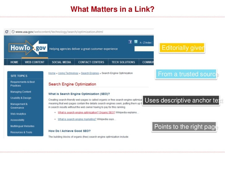 """What Matters in a Link?                                         Rel=""""Nofollow""""        URL                                 ..."""