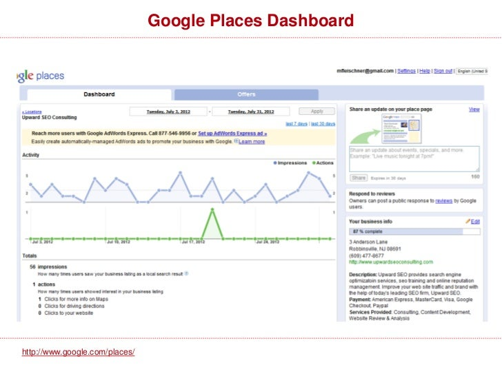 Local Search FactorsTop 10 Local Search Ranking Factors for 2012:•Physical Address in City of Search on Place Page•Proper ...