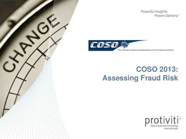 COSO 2013:  Assessing Fraud Risk