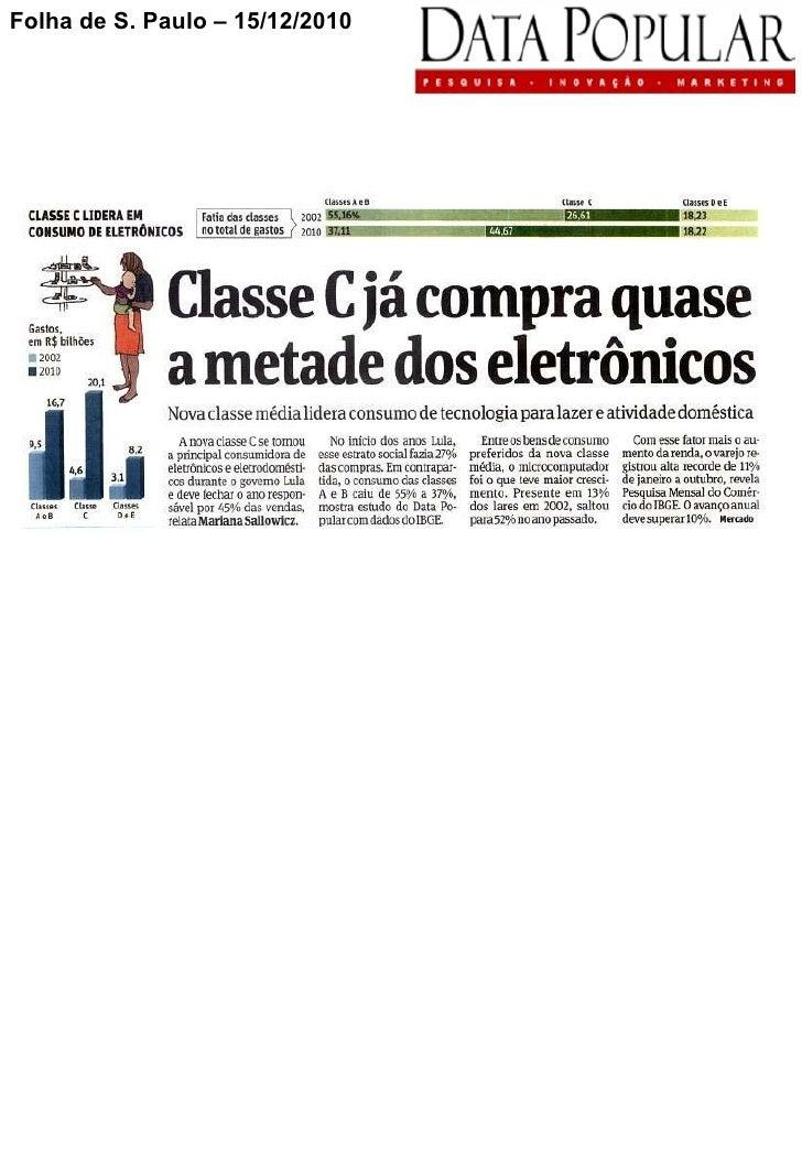 Folha de S. Paulo – 15/12/2010