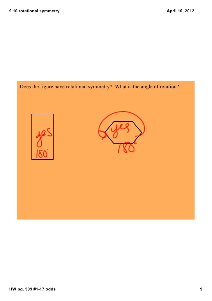 9.10rotationalsymmetry                                                April10,2012     Doesthefigurehaverotational...