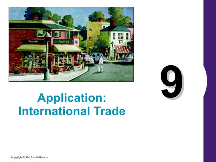 9 Application: International Trade