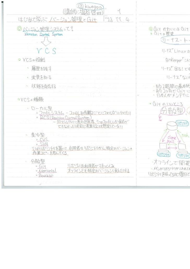 みゆっきノート#9「はじめて学ぶバージョン管理とGit」