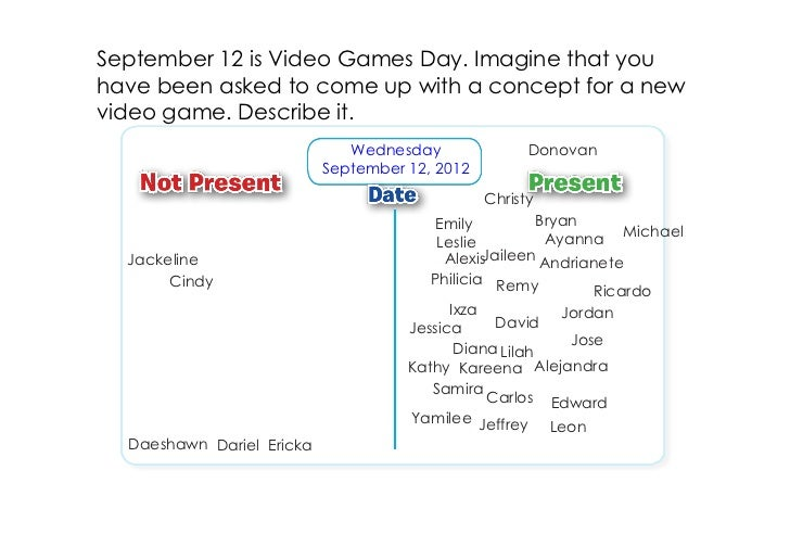 September 12 is Video Games Day. Imagine that youhave been asked to come up with a concept for a newvideo game. Describe i...