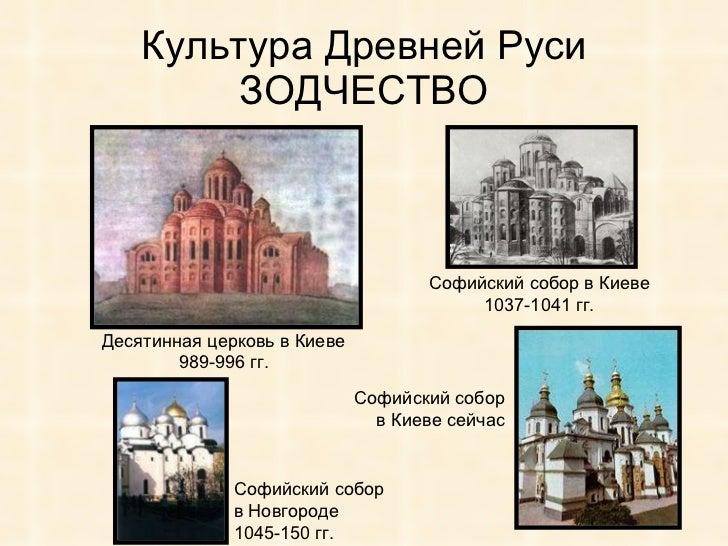 киевская русь в веках 25 Культура Древней Руси