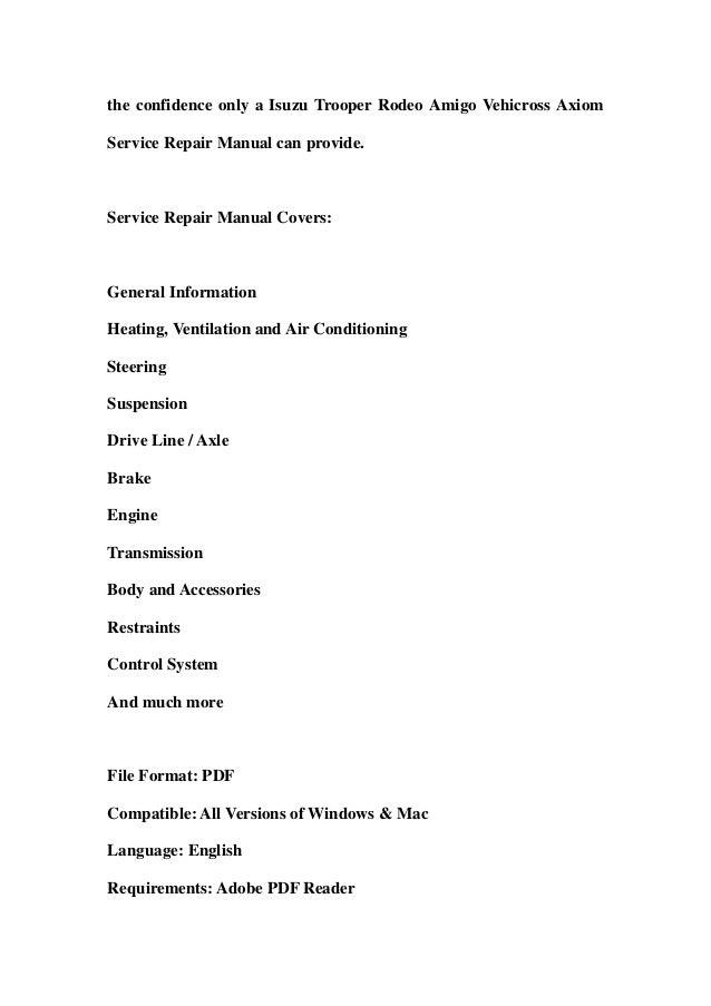 Isuzu 4bb1 Manual download