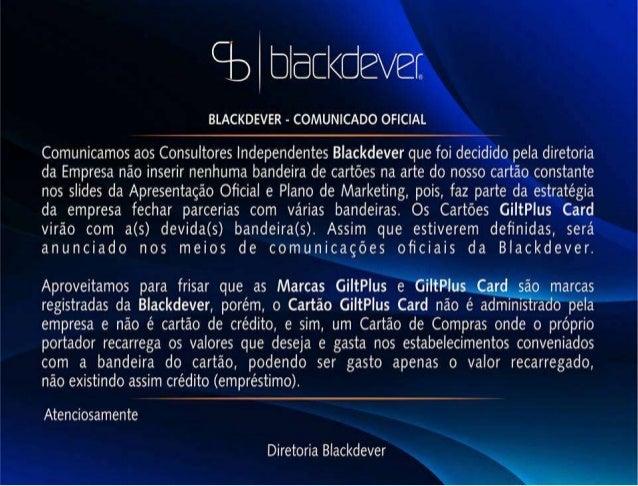Blackdever apresentação Atualizada!