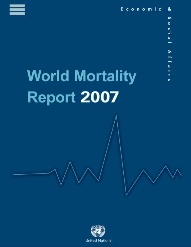 World mortality report 2007