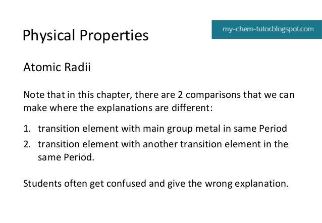 Transition elements 7 physical properties urtaz Choice Image