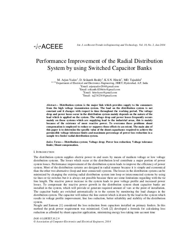 Int. J. on Recent Trends in Engineering and Technology, Vol. 10, No. 2, Jan 2014  Performance Improvement of the Radial Di...