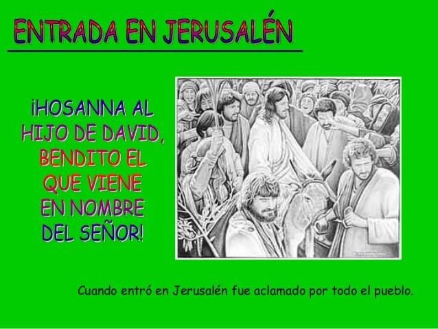 Cuando entró en Jerusalén fue aclamado por todo el pueblo.