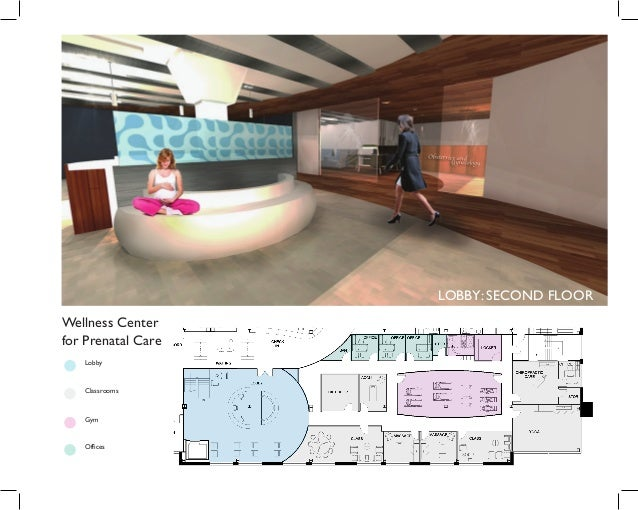 LOBBY: SECOND FLOOR Wellness Center for Prenatal Care Lobby Classrooms Gym Offices