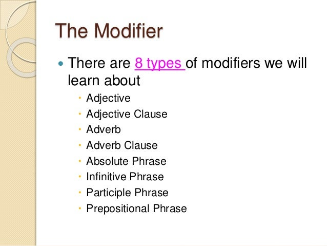 Preposition In Learn In Marathi All Complate: Modifiers