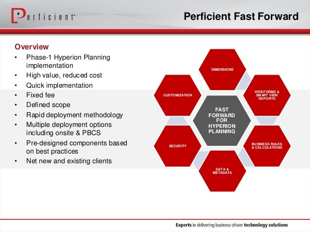 Rapidly Deploy Budgeting And Forecasting With Oracle And Perficient