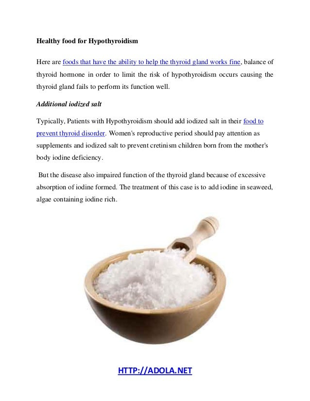 Food To Eat To Prevent Hypothyroidism