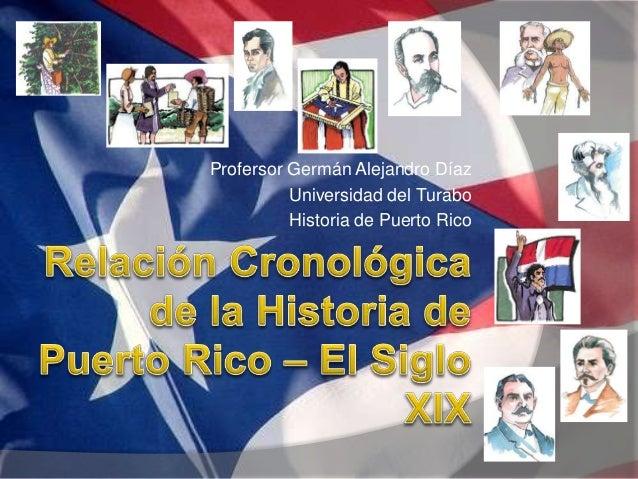 Profersor Germán Alejandro Díaz  Universidad del Turabo  Historia de Puerto Rico