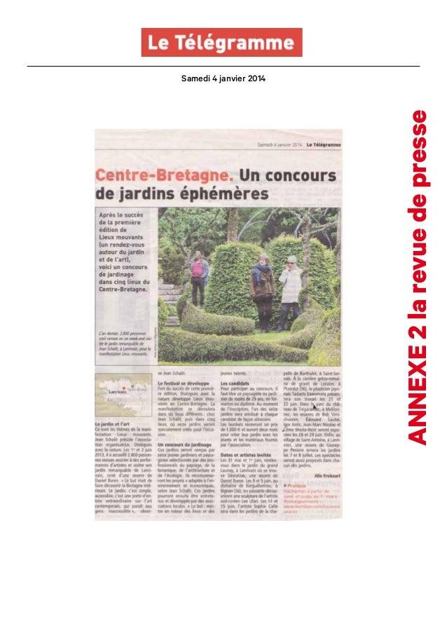 annexe 2 la revue de presse  Samedi 4 janvier 2014