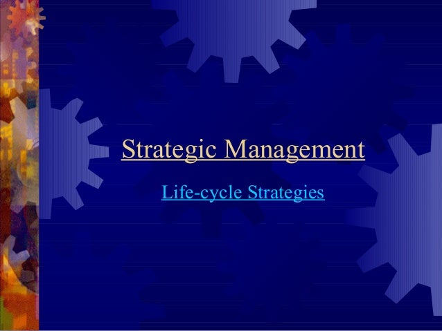 Strategic Management  Life-cycle Strategies