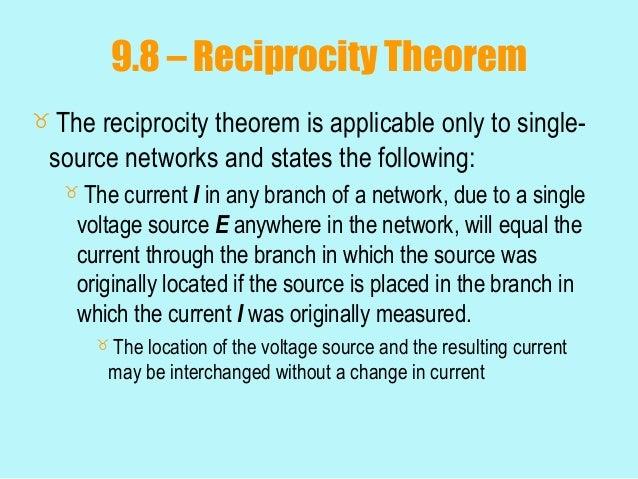 reciprocity theorem statement