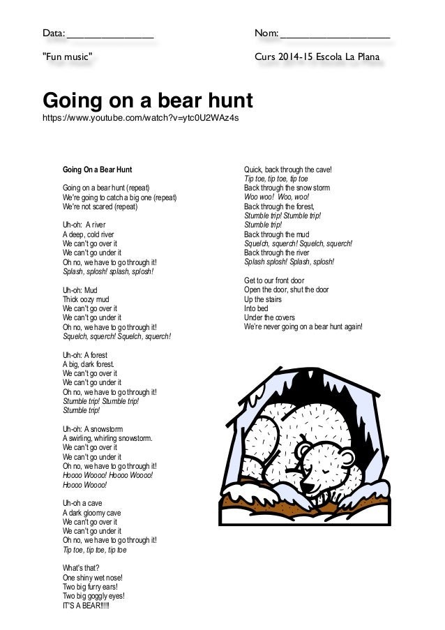 9 Going On A Bear Hunt Action Songs