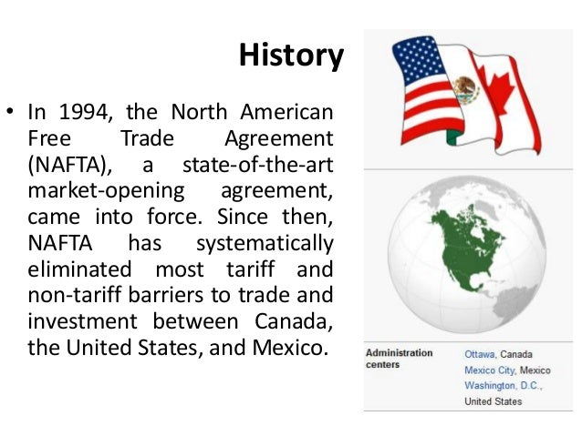North American Free Trade Agreement Nafta International Business