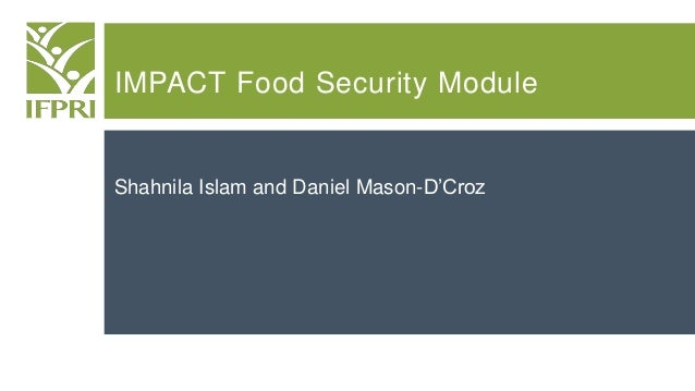 IMPACT Food Security Module Shahnila Islam and Daniel Mason-D'Croz