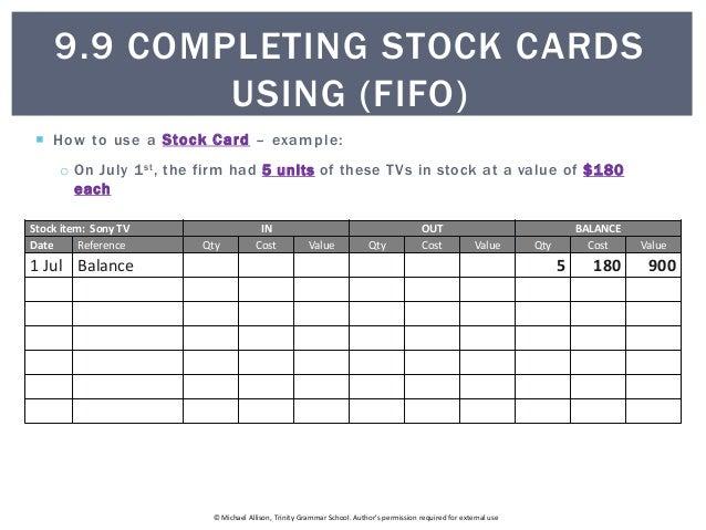 stockcard