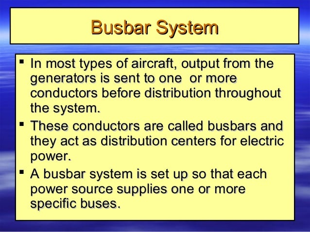 9. aircraft electrical systems