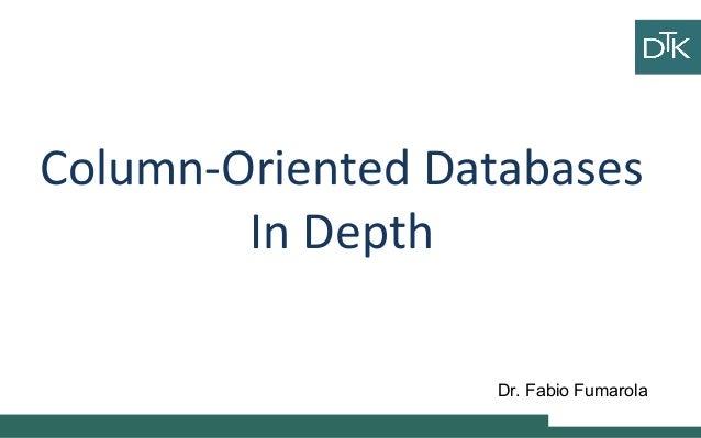 8 column oriented databases