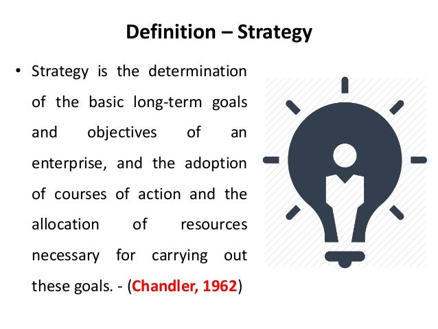 definition of strategic management Coursework in a strategic marketing track may include marketing communication, online and social media marketing, supply chain management, financial decisions, retail management and international business.