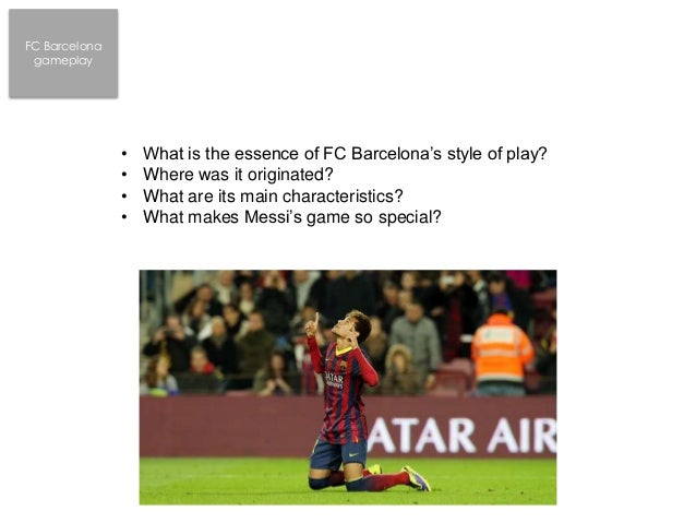FC Barcelona style of play