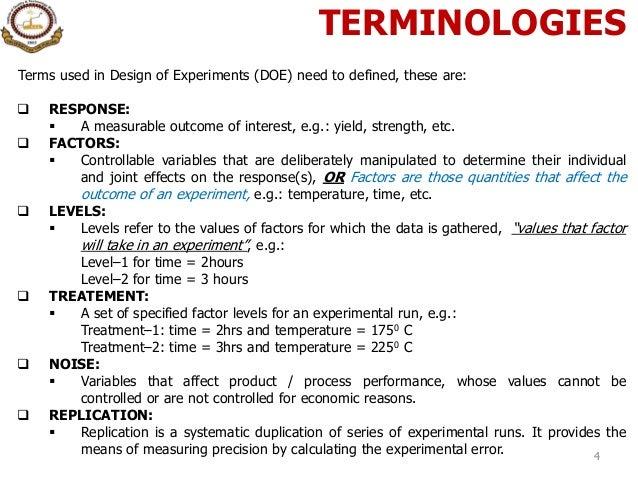 9. design of experiment