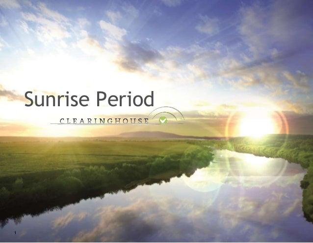 Sunrise Period 1