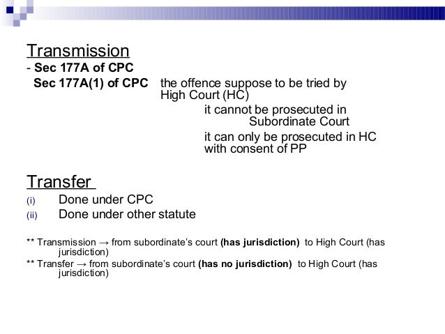 transfer of criminal cases under crpc