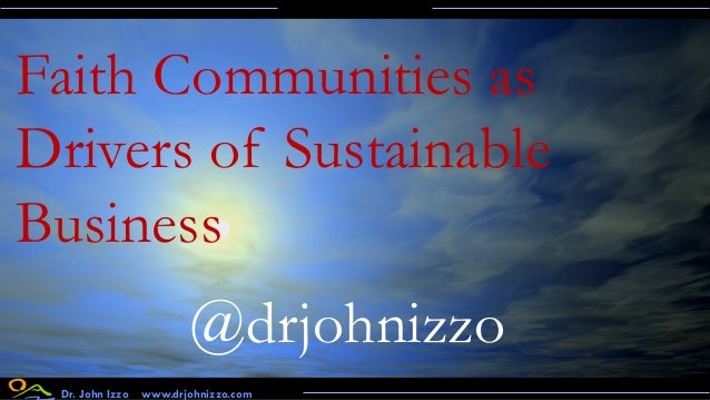 Faith-based Communities as Drivers of Sustainable Business: Challenges and Opportunities for Brands Slide 2
