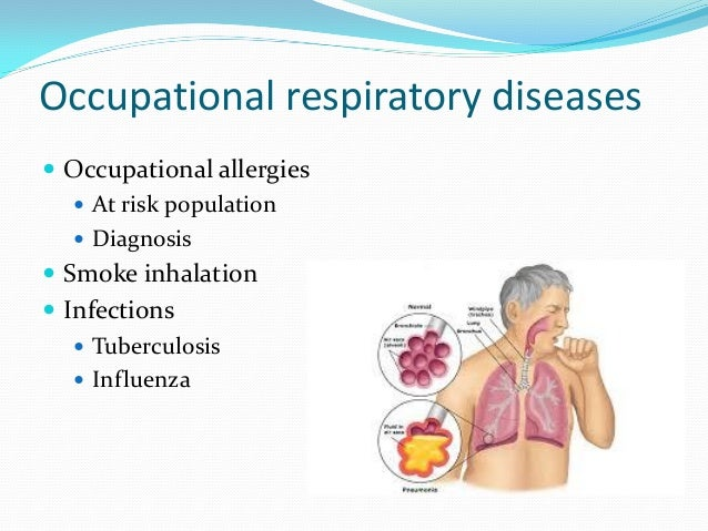 occupational respiratory disease An occupational lung disease is a lung disease that was caused by or aggravated by an exposure on the job they are usually caused by repeated and long-term exposure to irritating or toxic.