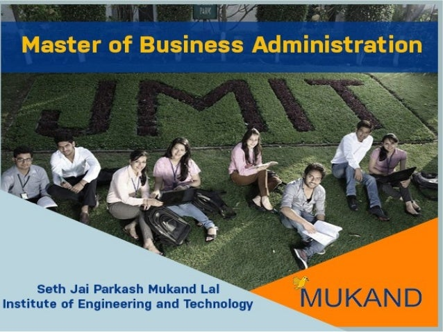 Master of Business Administration