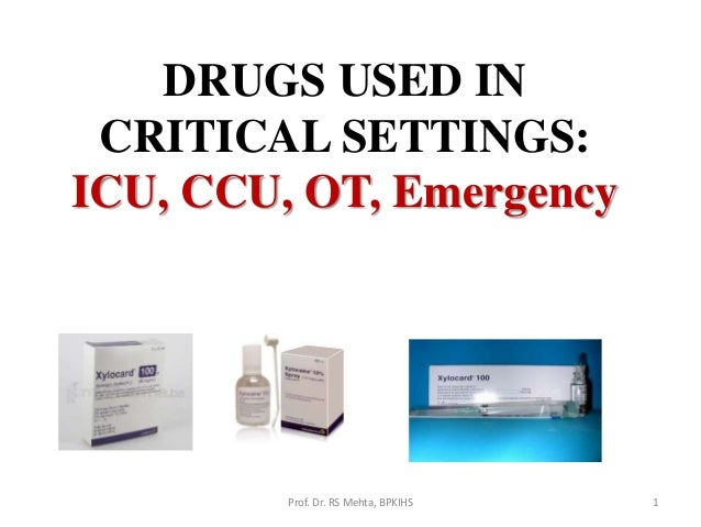 9  drugs used in critical