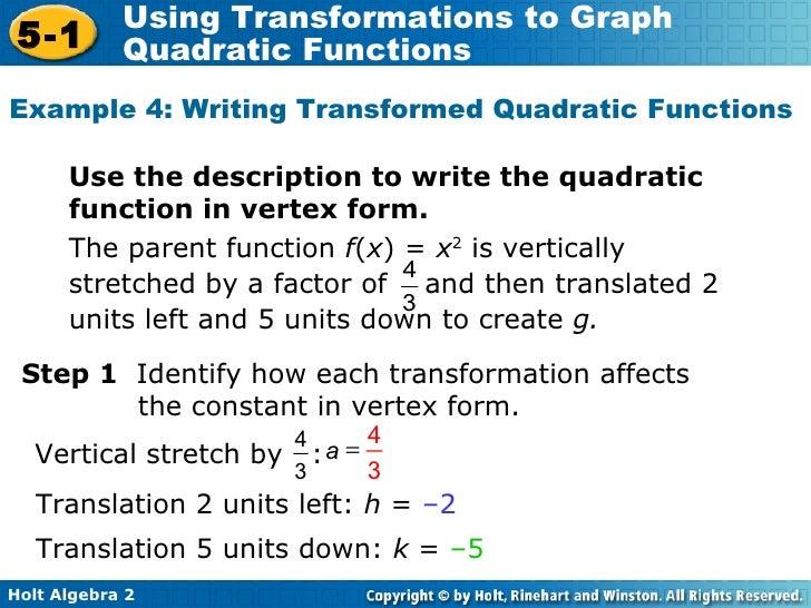 Algebra 2 915 Intro To Quadratics