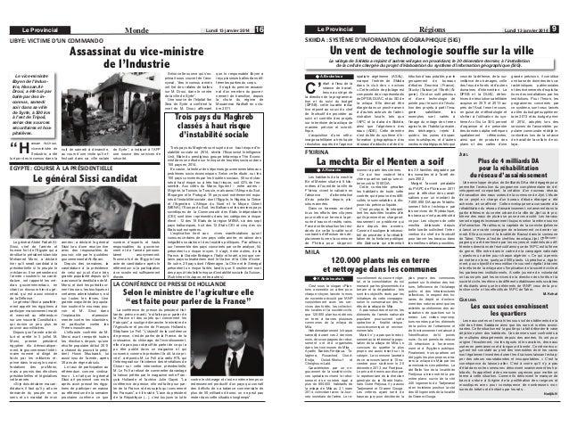 """Monde  Le Provincial  Lundi 13 janvier 2014  16  Selon cette source qui s'exprimait sous couvert de l'anonymat, """"des incon..."""