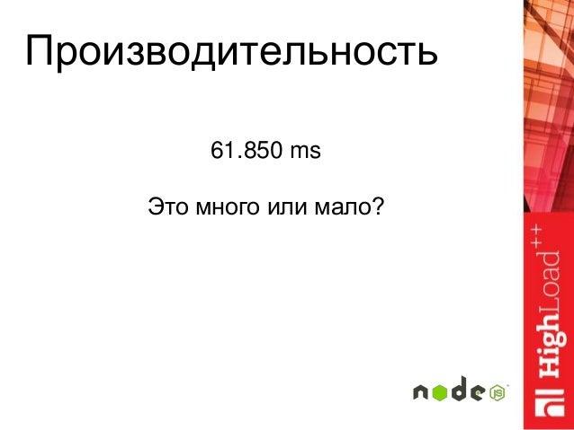 Производительность 61.850 ms Это много или мало?