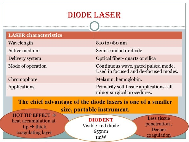 advantages and disadvantages of lasers Advantages and disadvantages of laser use in medicine lasers have several advantages over standard surgical tools: lasers are more precise than scalpels tissue near an incision is protected, since there is little contact with surrounding skin or other tissue.