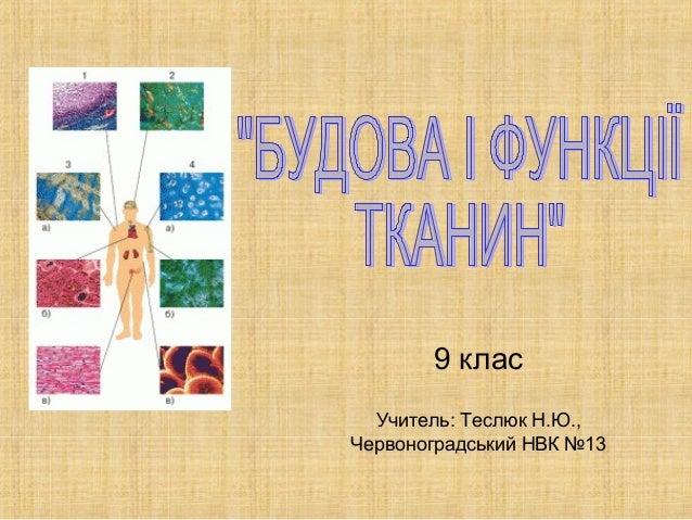 9 клас Учитель: Теслюк Н.Ю., Червоноградський НВК №13