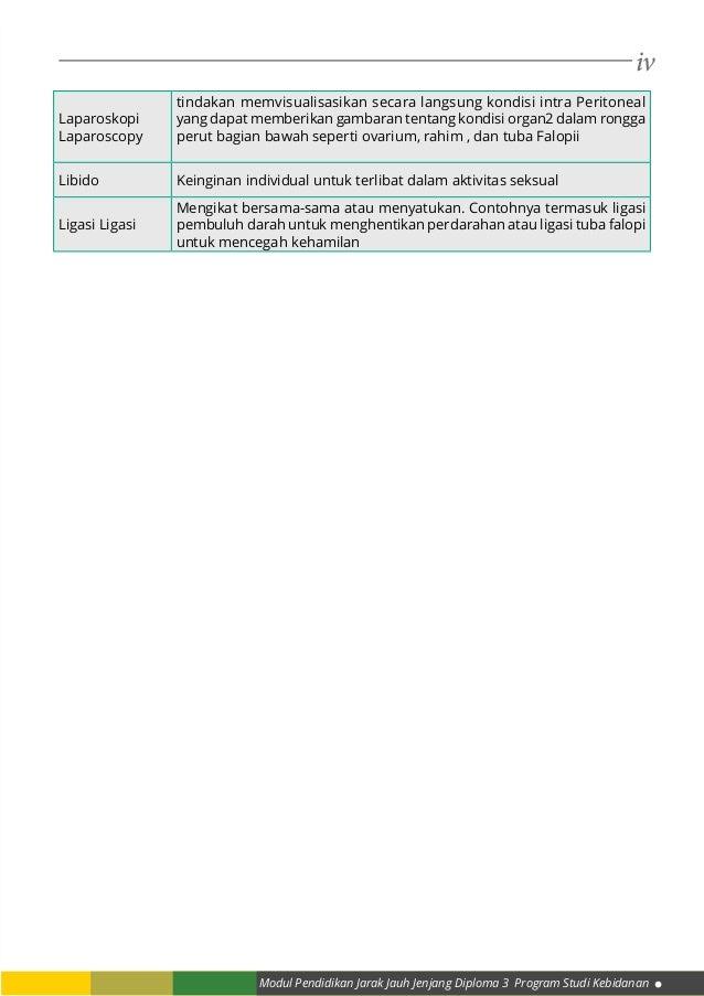 iv Modul Pendidikan Jarak Jauh Jenjang Diploma 3 Program Studi Kebidanan Laparoskopi Laparoscopy tindakan memvisualisasika...