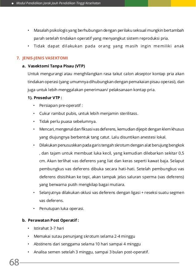 Modul Pendidikan Jarak Jauh Pendidikan Tinggi Kesehatan 68 • Masalah psikologis yang berhubungan dengan perilaku seksual ...