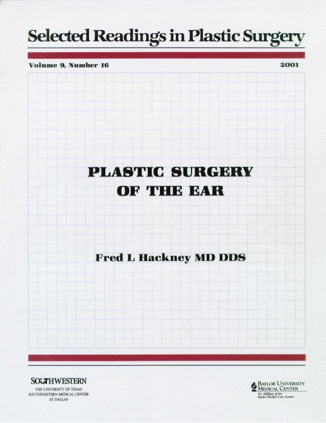 plastic surgery of the ear