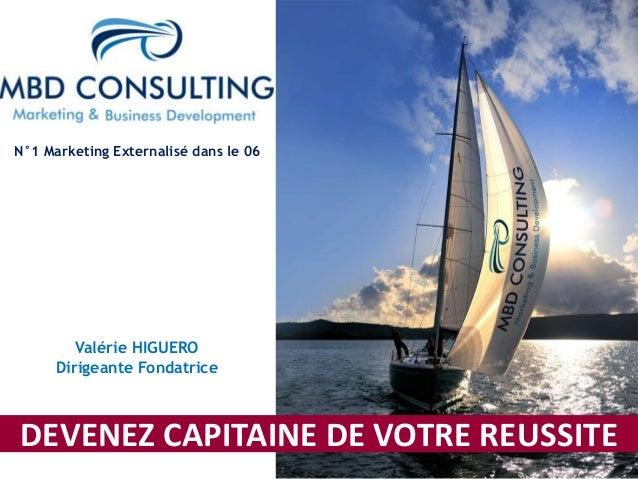 N°1 Marketing Externalisé dans le 06  Valérie HIGUERO  Dirigeante Fondatrice  DEVENEZ CAPITAINE DE VOTRE REUSSITE