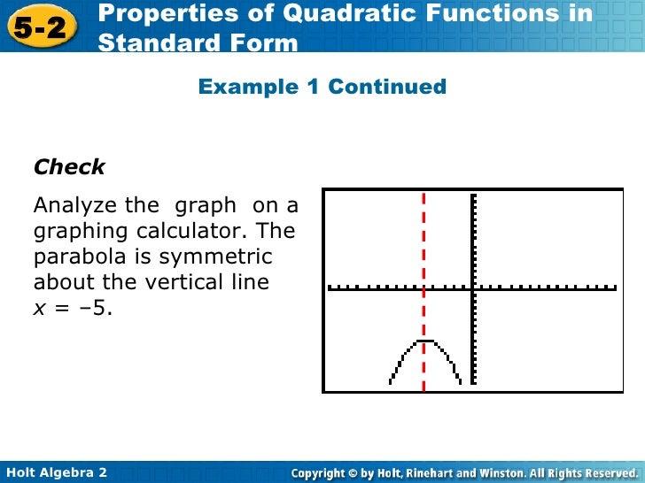 Algebra 2 916 Quadratics 2